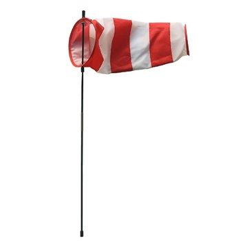 Rhombus Windsok 13x35 cm Rood/Wit