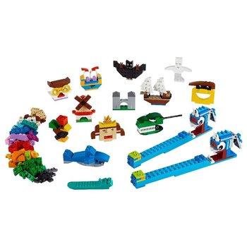 Lego Classic 11009 Stenen Set + 2 Licht Stenen