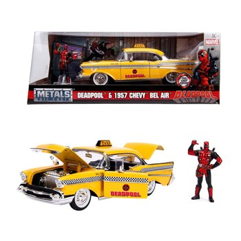 Metals Die-Cast Deadpool 1957 Chevy Bel Air + Figuur