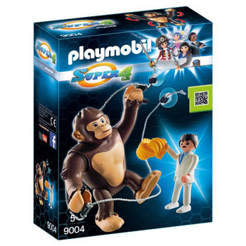 Playmobil 9004 Super 4 Agent Houston en Reuzenaap Gonk