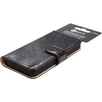 Unit Flip Glitter PU-leren hoesje voor iPhone 6 / 6S   Zwart