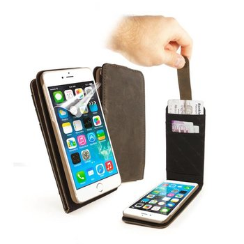 Tuff-Luv - Western Lederen  In-genius hoes met screenprotector voor Iphone 7 - Bruin
