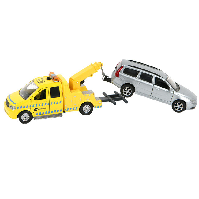 Kids Globe Traffic Afsleep Auto + Volvo Assorti
