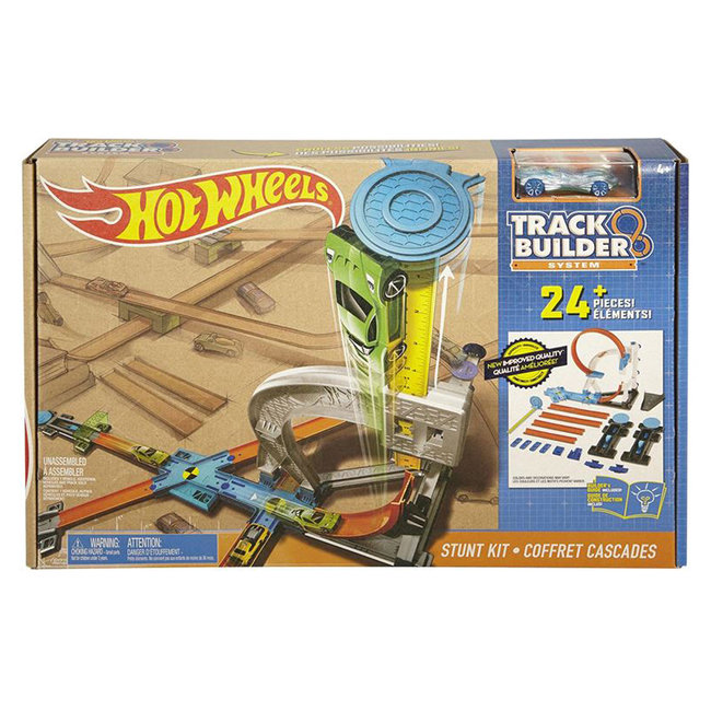 Hot Wheels Track Builder Stunt Kit + Auto