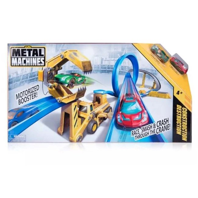 Zuru Metal Machines Race Smash and Crash Speelset + 2 Auto's