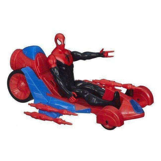 Spiderman Pop + Turbo Racer met 4 Raketten