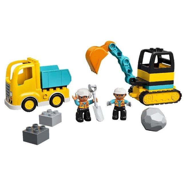 Lego Duplo 10931 Truck en Graafmachine