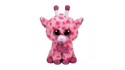 TY Beanie Buddy Knuffel Giraffe Sweetums met Hartje 24 cm Roze